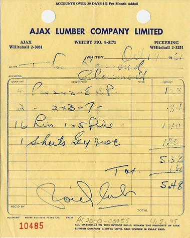 Handwritten And Typewritten Invoices Old School - Handwritten invoice template